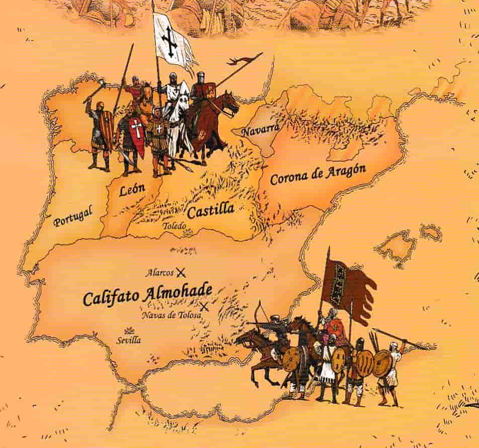 Navas De Tolosa Mapa.1212 Las Navas De Tolosa Edad Media Comics De Historia