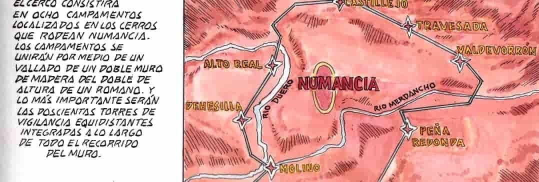 mapa de numancia
