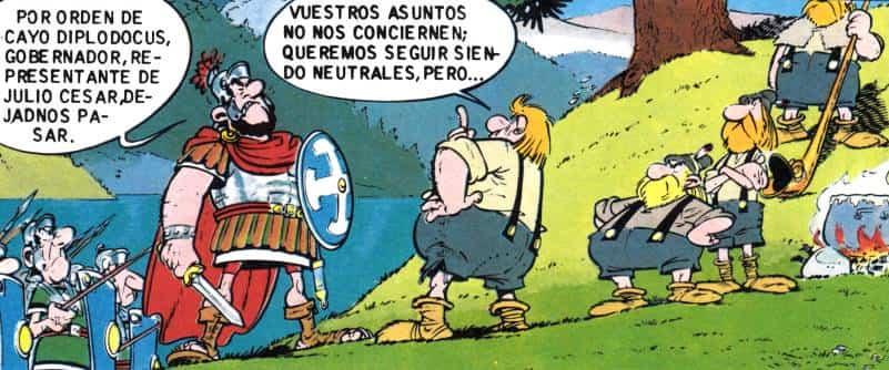los romanos y asterix