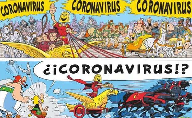 Astérix y coronavirus